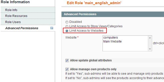 Websiteで制限